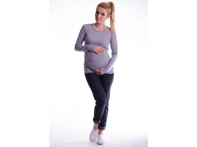 Těhotenské tričko - Ellis šedé