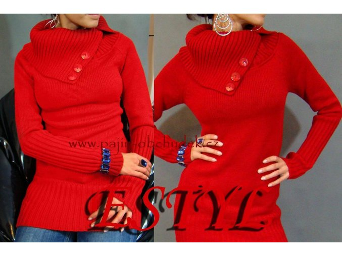 Elegantní svetr Karla II červená