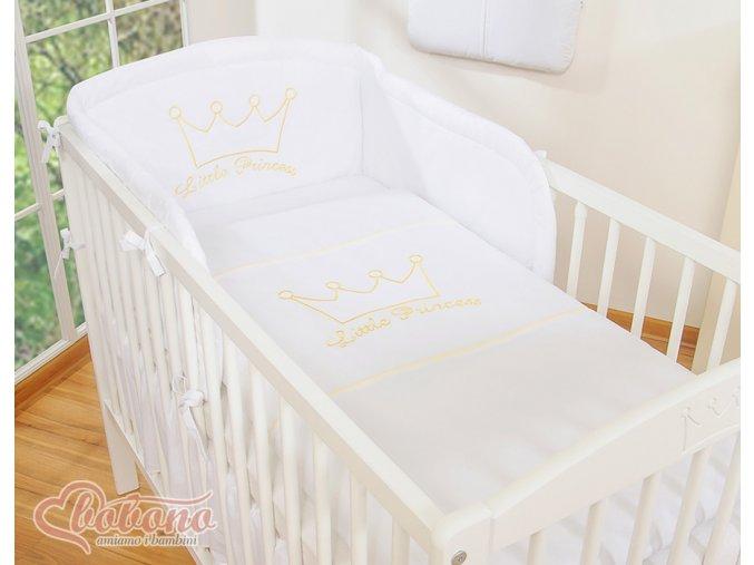 Povlečení - Little princess bílá