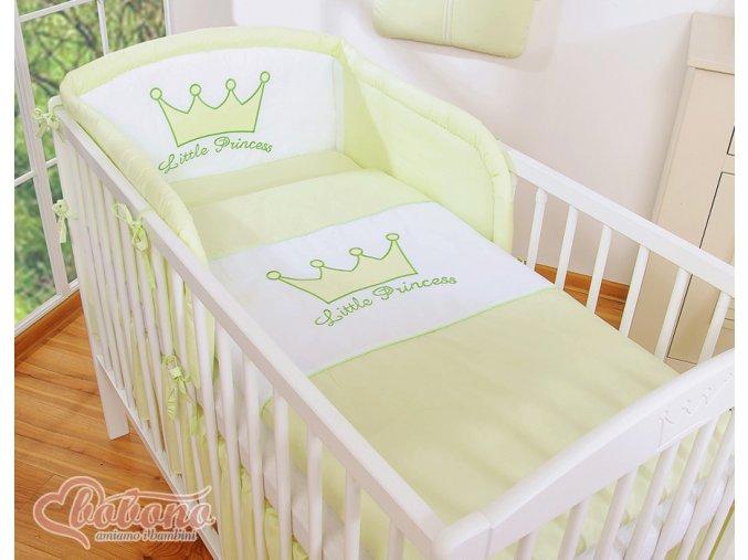 Povlečení - Little princess zelená