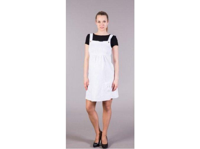 Těhotenské šaty - Jeans bílé