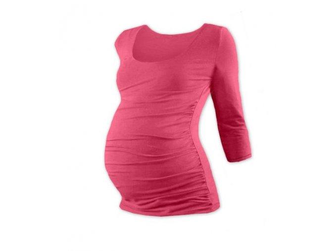 Těhotenské tričko se 3/4 rukávem - Lili lososově růžová