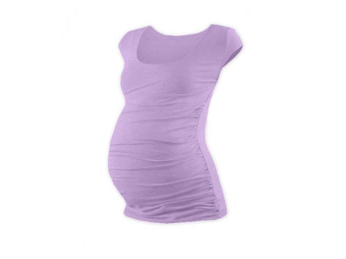Těhotenské tričko s mini rukávem - Lili levandulová