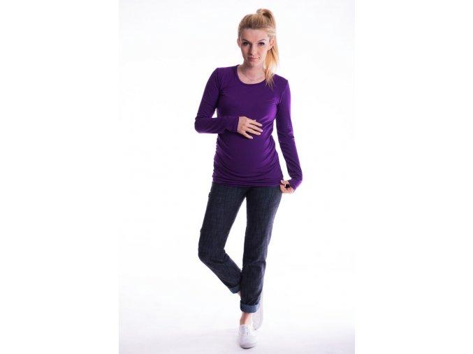 Těhotenské tričko - Ellis fialové
