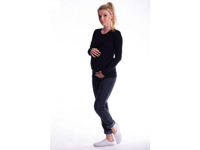 Těhotenské tričko - Ellis černé