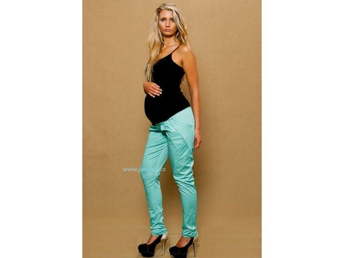 Těhotenské kalhoty Aladinky mátové, vel. M