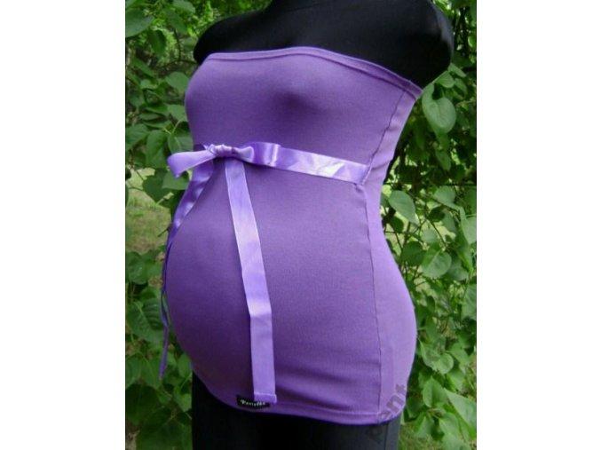 Těhotenský top/pás se stuhou - Fialový