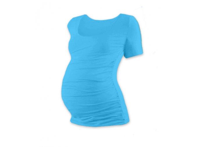 Těhotenské tričko s krátkým rukávem - Lili tyrkysová