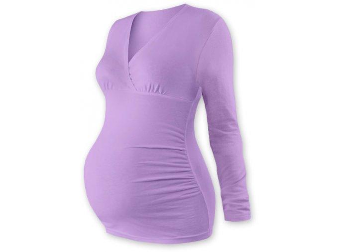 Těhotenská tunika s dlouhým rukávem - Agáta levandulová