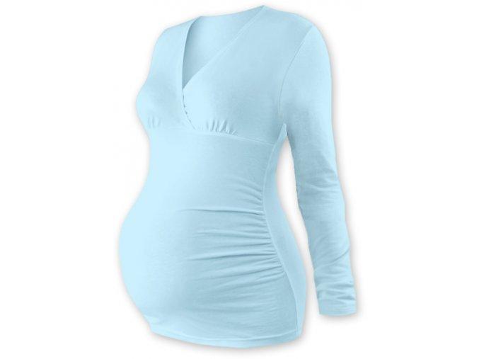 Těhotenská tunika s dlouhým rukávem - Agáta sv. modrá