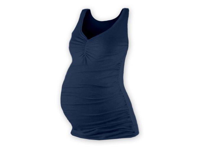 Těhotenské tílko - Tatiana tm. modrá