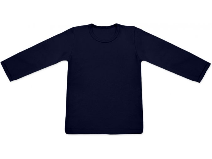 Tričko s dlouhým rukávem - tm. modrá