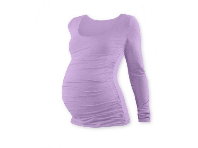 Těhotenské tričko s dlouhým rukávem - Lili levandulová