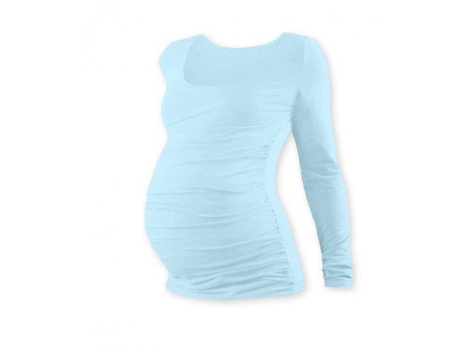 Těhotenské tričko s dlouhým rukávem - Lili sv. modrá, vel. M/L a L/XL