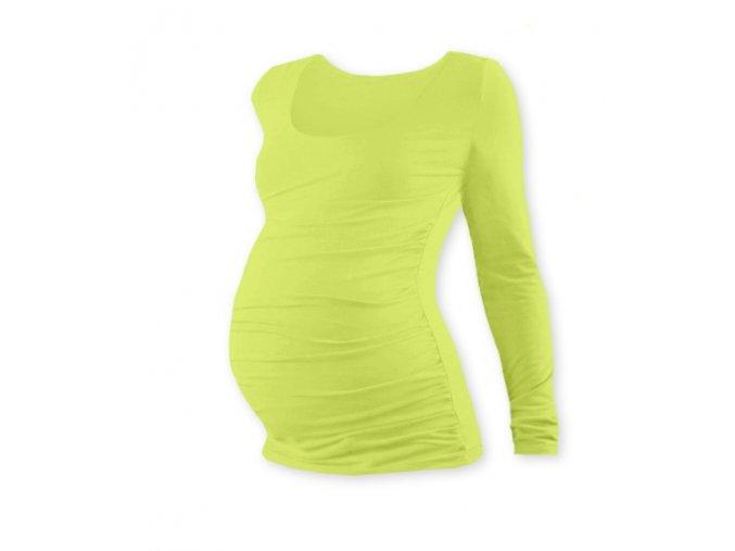 Těhotenské tričko s dlouhým rukávem - Lili sv. zelená
