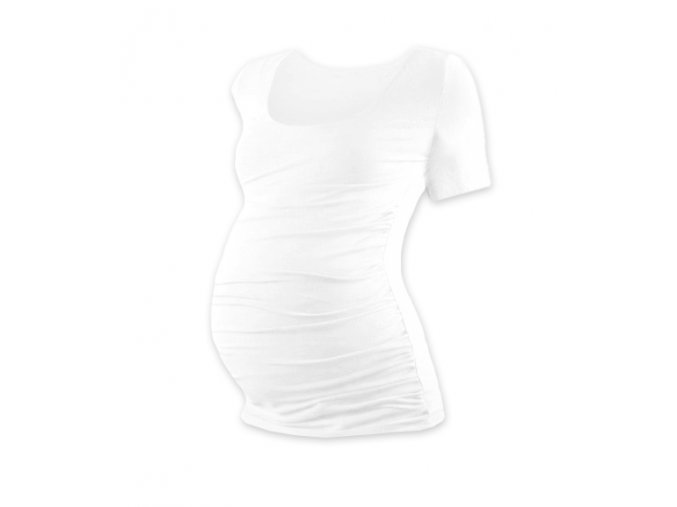 Těhotenské tričko s krátkým rukávem - Lili bílá