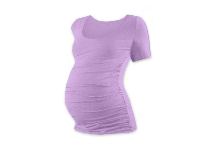 Těhotenské tričko s krátkým rukávem - Lili levandulová