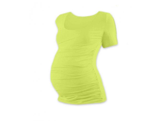 Těhotenské tričko s krátkým rukávem - Lili sv. zelená
