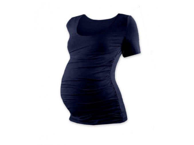Těhotenské tričko s krátkým rukávem - Lili tm. modrá