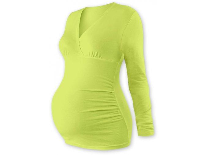 Těhotenská tunika s dlouhým rukávem - Agáta sv. zelená