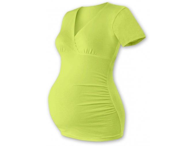 Těhotenská tunika s krátkým rukávem - Agáta sv. zelená