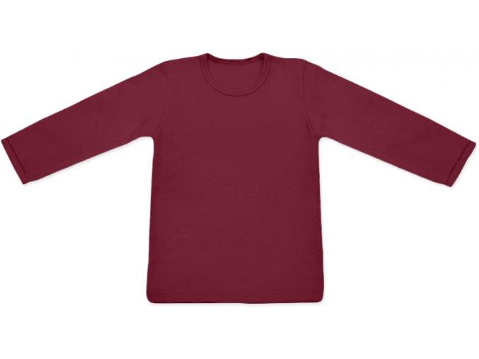 Tričko s dlouhým rukávem - bordó, vel. 74, 80, 86, 116, 122, 128, 134 a 140