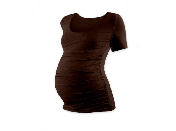 Těhotenské tričko s krátkým rukávem - Lili hnědá