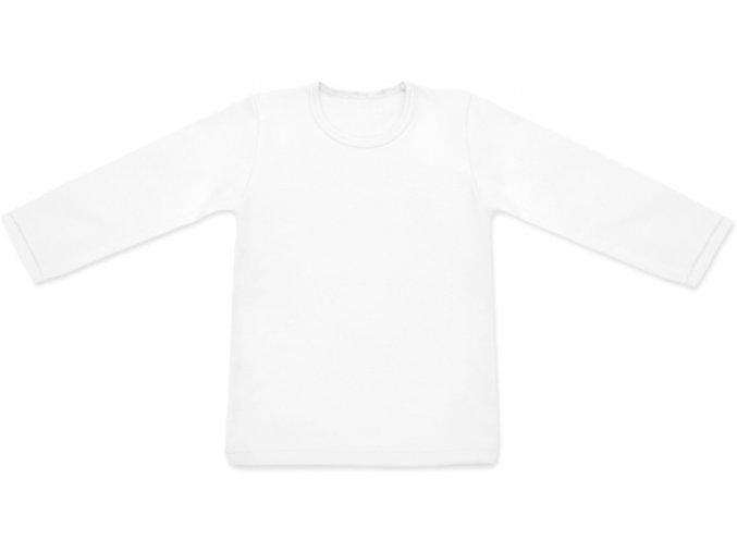 Tričko s dlouhým rukávem - bílá, vel. 74, 80, 134 a 140