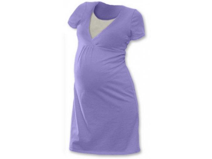 Těhotenská a kojící noční košile - Lucie lila, vel. L/XL