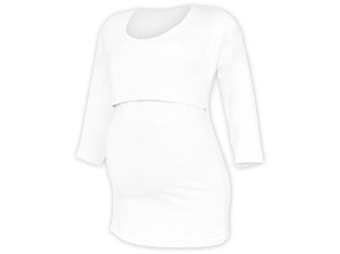 Kojící a těhotenské tričko se 3/4 rukávem - Kateřina bílá