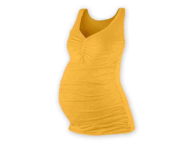 Těhotenské tílko - Tatiana sv. oranžová, vel. L/XL