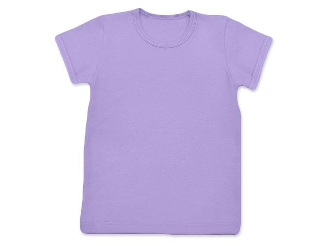 Tričko s krátkým rukávem levandulová, vel. 74, 80, 86, 128, 134 a 140