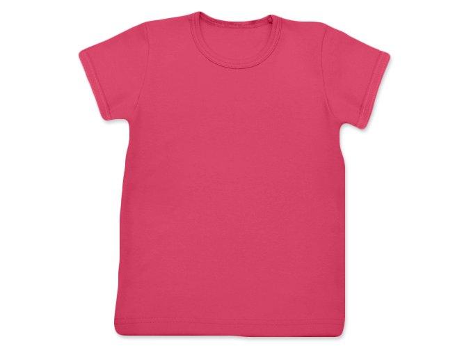Tričko s krátkým rukávem lososově růžová, vel. 74, 80, 92 a 140