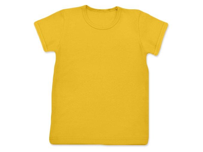 Tričko s krátkým rukávem žlutooranžová, vel. 74 a 140