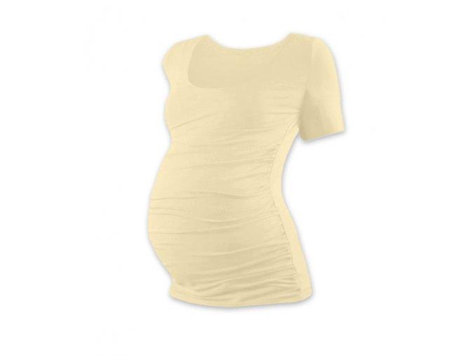 Těhotenské tričko s krátkým rukávem - Lili caffé latté, vel. L/XL