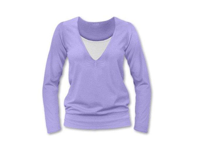 Kojící tričko s dlouhým rukávem - Karla lila, vel. L/XL