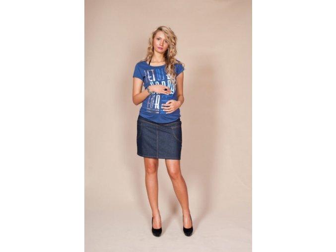 Těhotenská sukně s kapsami Jeans granátová