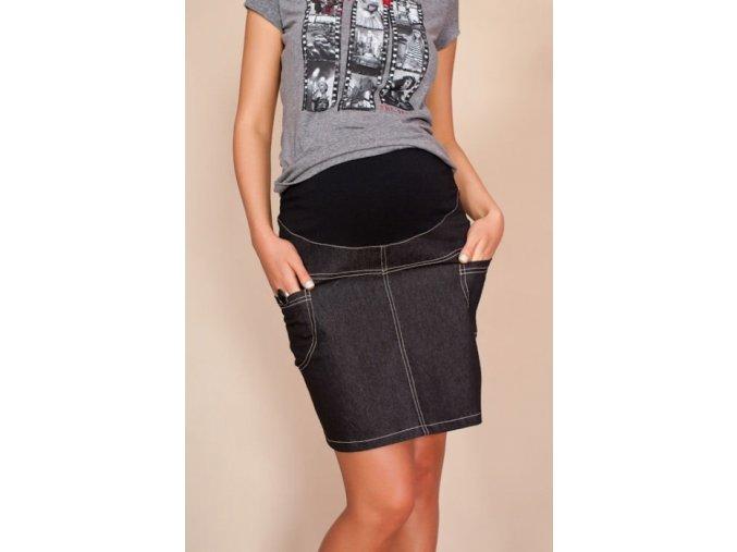 Těhotenská sukně s kapsami Jeans černá