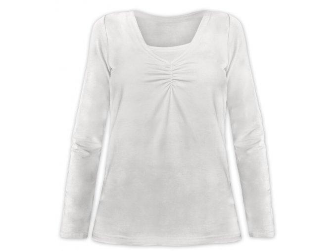 Kojící tričko s dlouhým rukávem - Klaudie smetanová