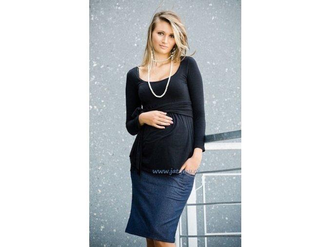 Těhotenská sukně Sara modrá