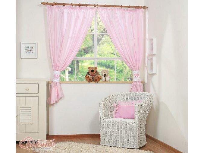 Závěsy - Little princess růžová
