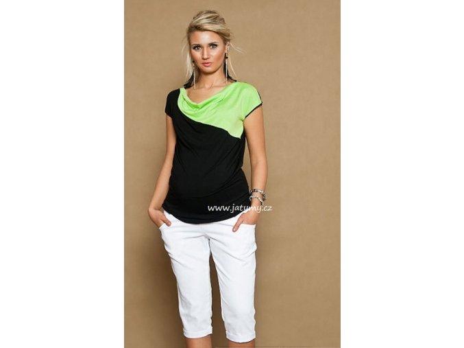 Těhotenské 3/4 kalhoty Jeans bílé