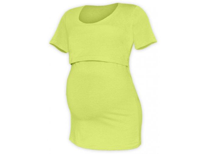 Kojící a těhotenské tričko s krátkým rukávem - Kateřina sv. zelená