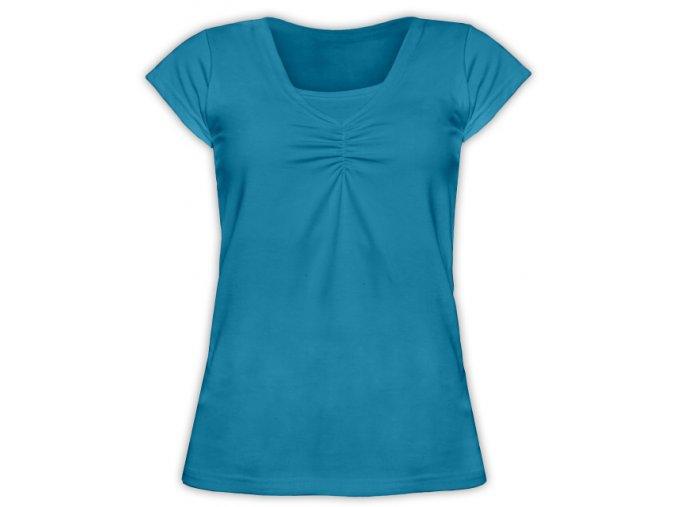 Kojící tričko s krátkým rukávem - Klaudie petrolejová