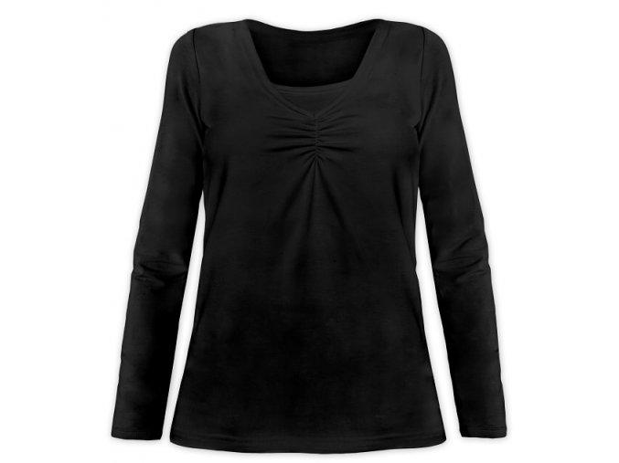 Kojící tričko s dlouhým rukávem - Klaudie černá