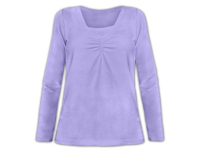 Kojící tričko s dlouhým rukávem - Klaudie lila, vel. M/L a L/XL