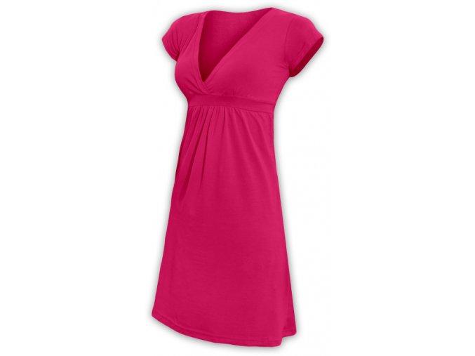 Šaty Šarlota tm. růžová