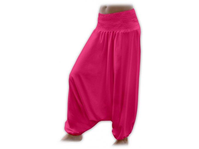 Turecké kalhoty - tm. růžová, vel. S/M