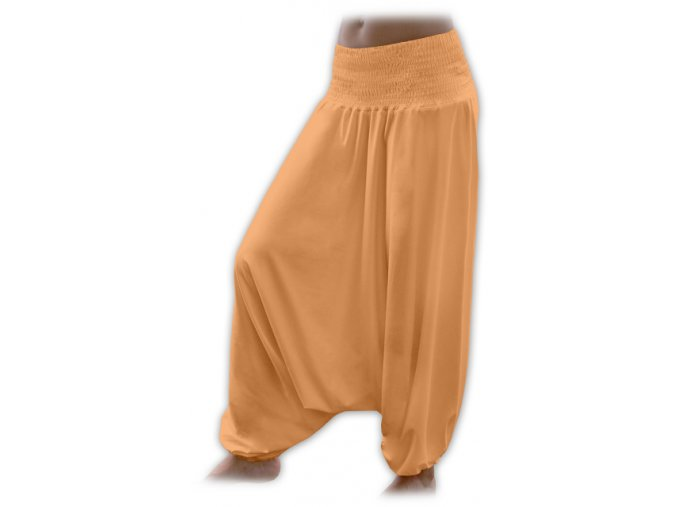 Turecké kalhoty - sv. oranžová, vel. M/L