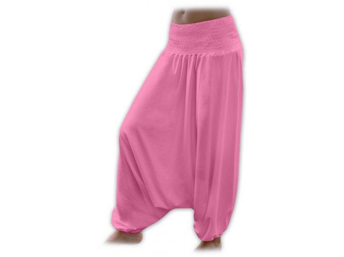 Turecké kalhoty - růžová, vel. M/L a L/XL